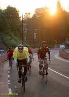 As the sun began to break through the trees, a group of cycle tourists were pitting themselves against the beast; they'll be able to tell their club mates; 'it's not so tough!'
