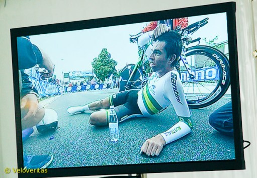 Howson caused a stir by lying down in the road after his effort – but was soon up and chaperoned to the 'hot seat.'