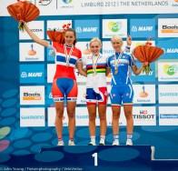 Eline Brustad (Norway), Lucy Garner (GBR) and Anna Stricker (Italy).