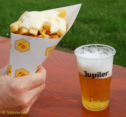Frites and pils came next; at extortionate prices – but if you can't stiff the visitors, what's the point?