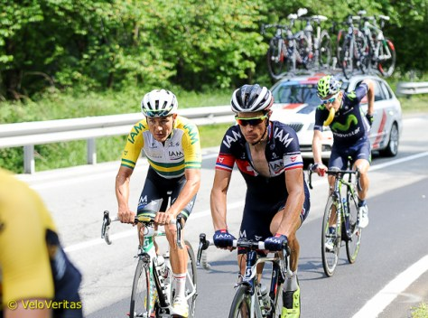 Heinrich Haussler and Silvain Chavanel. Photo©Martin Williamson