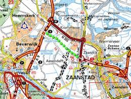 Kaart verbinding a8-a9