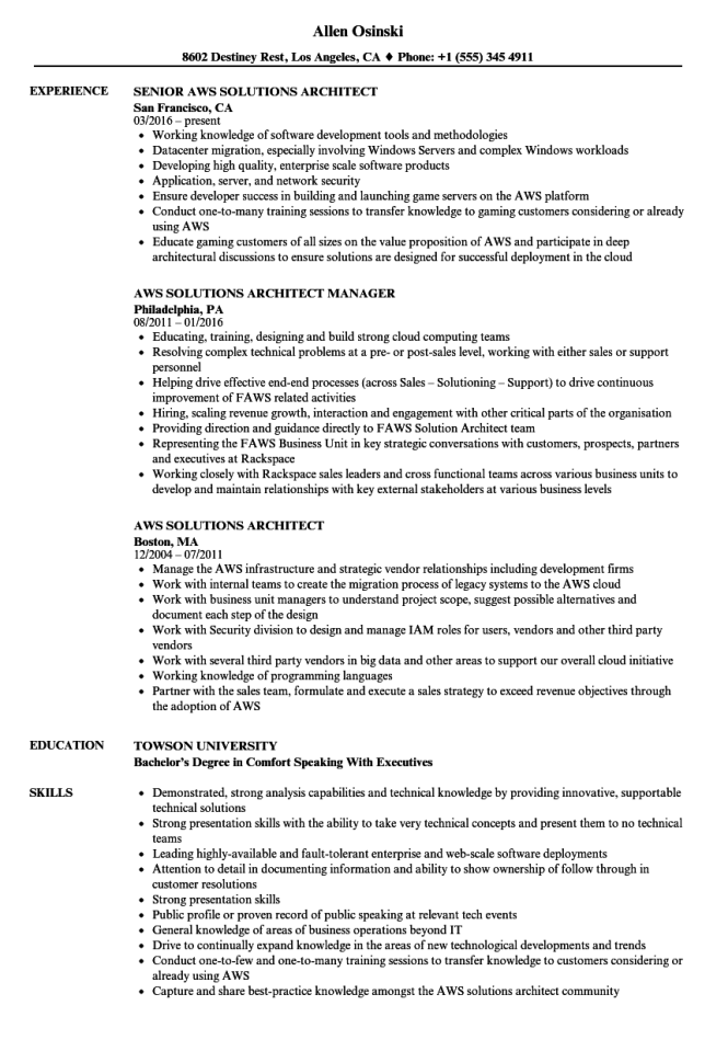 Software Architect Resume Examples - Resume Sample