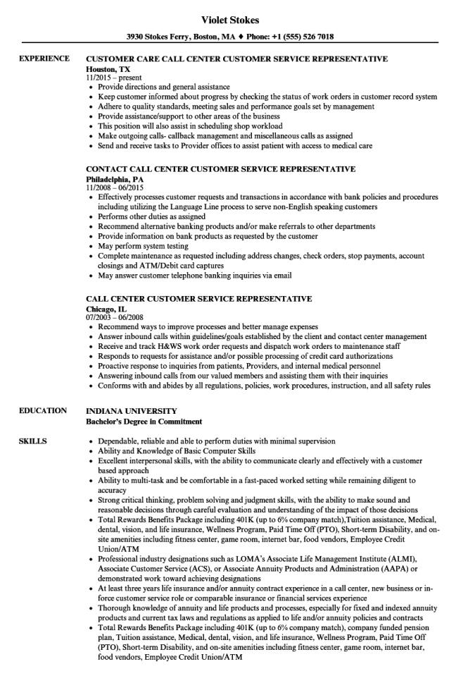 bank customer service representative resume sample