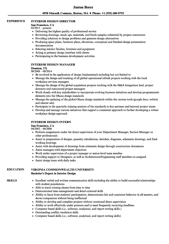 Interior Design Positions Titles