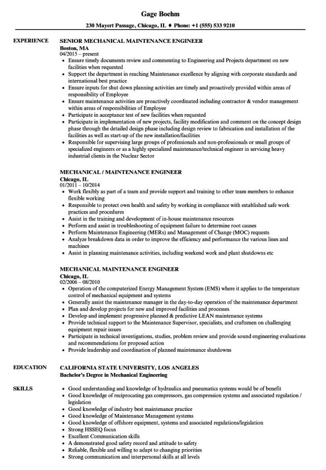 Mep maintenance engineer cv August 27
