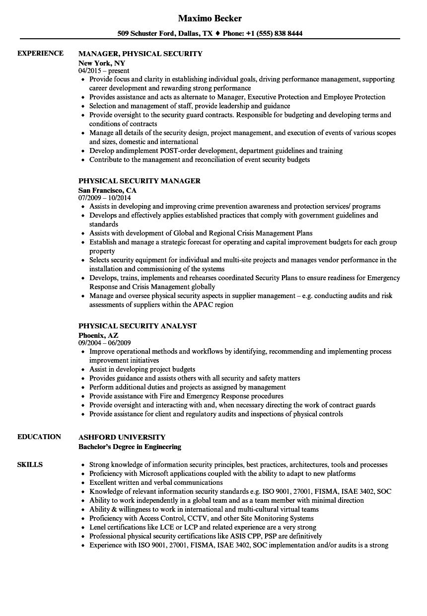 Corporate Security Manager Vacancies