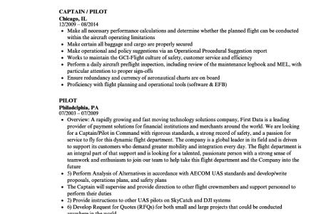 Free Resume Sample » student pilot resume template | Resume Sample