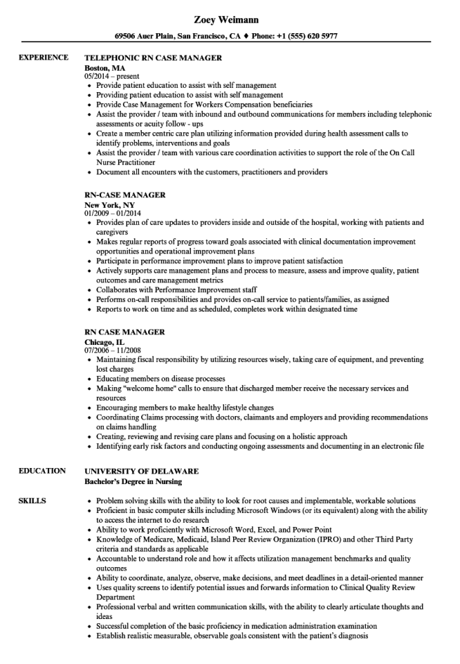 rn case manager resume samples velvet jobs - Resume Samples For Rn Case Manager