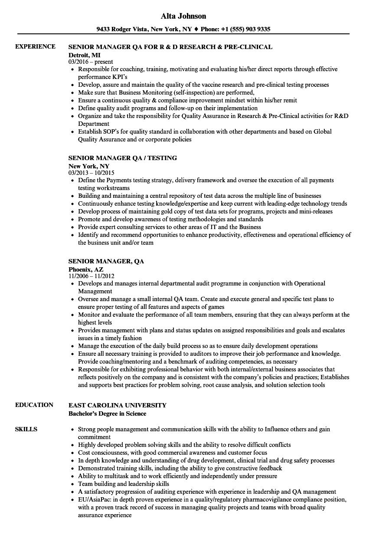 Exelent Qa Resumes Adornment - Resume Template Samples - asesorya.com
