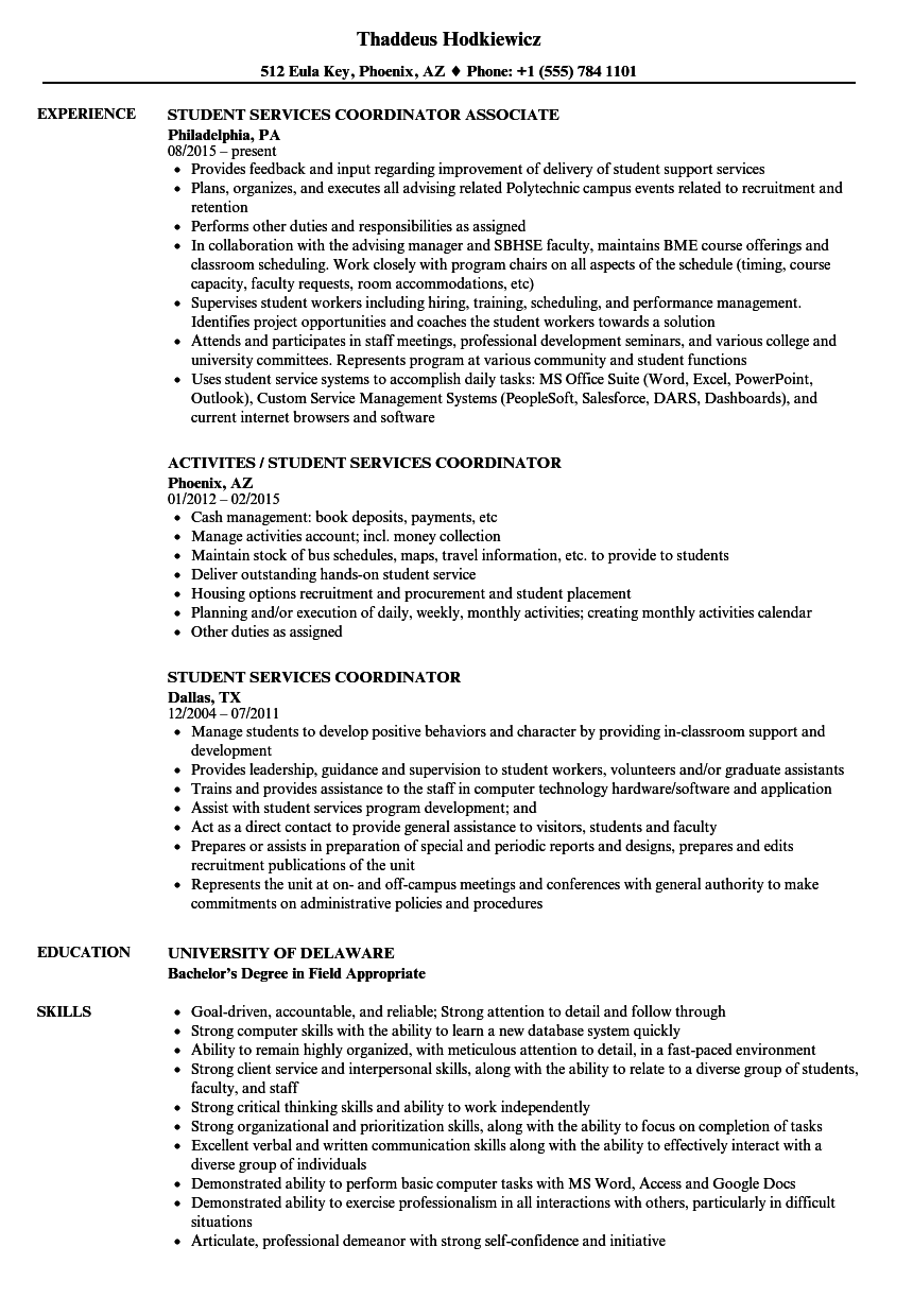Activities Coordinator Resume Wwwoscarsfurniturecom