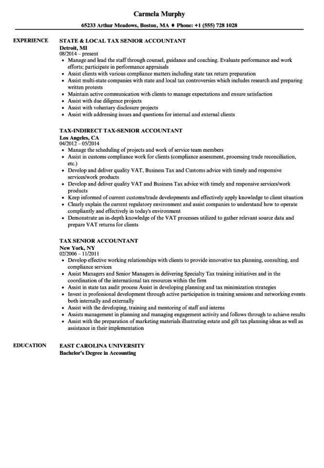 Resume Samples For Accounting Jobs - Resume Sample