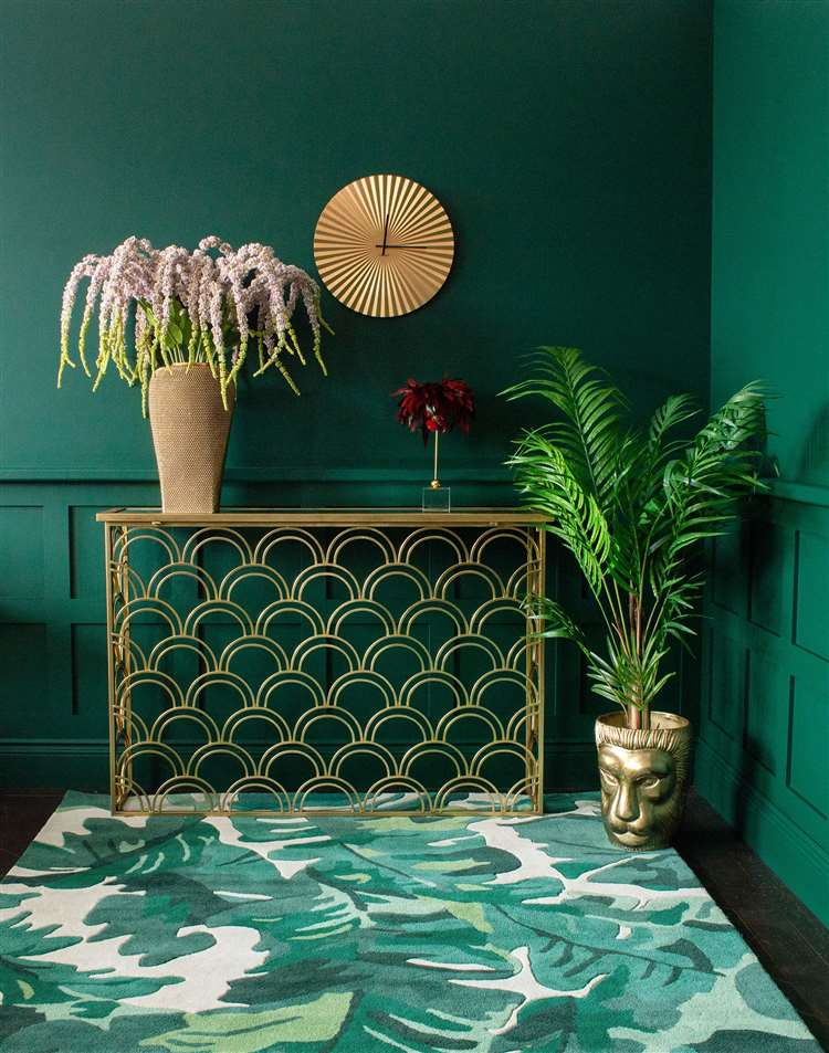 Palm jungle rug, from £199, audenza.com (24069995)