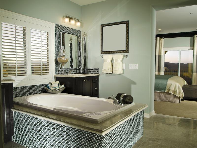 Light brown tile for bathroom floor
