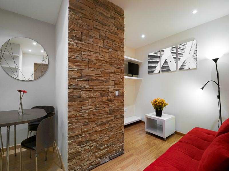 brown cladding as a indoor feature wall