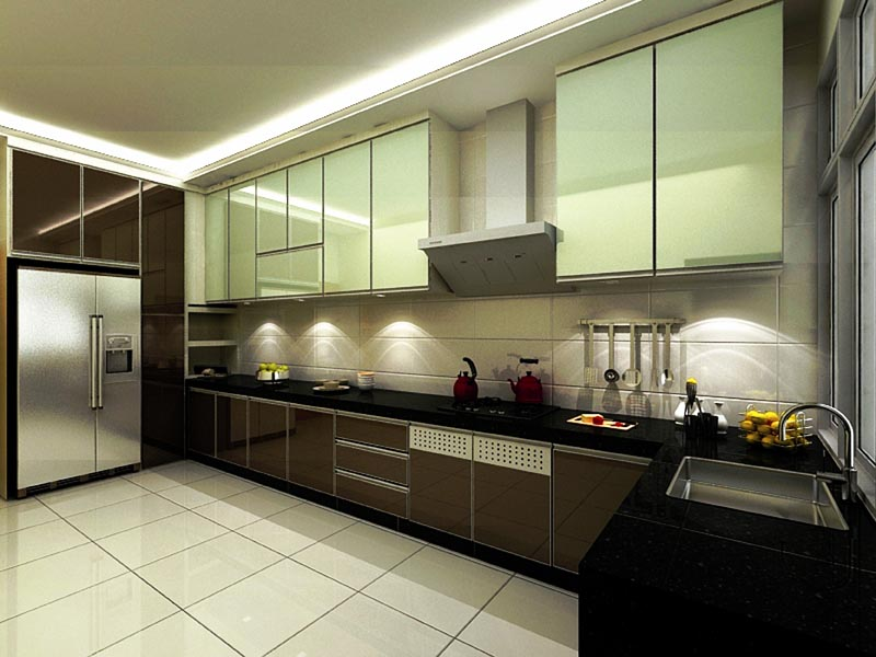 crystal white tile used in the kitchen