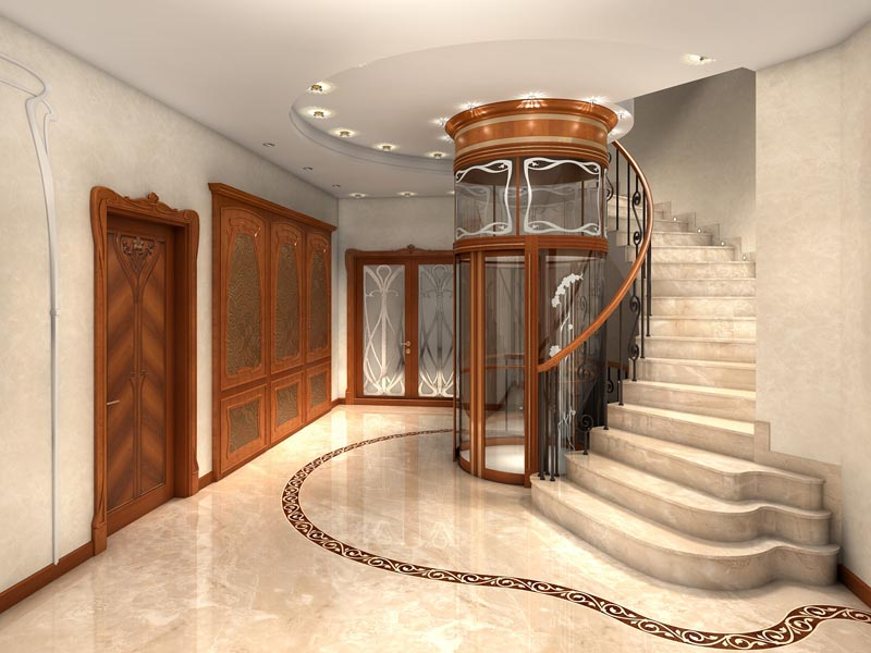 marble floor with the brown decoration
