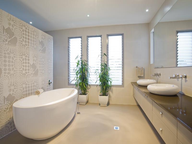 matt cream tile for floor and wall