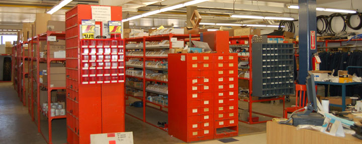 Image showing VEMA full service parts store, clean and well-organized aisles with products from top retailers