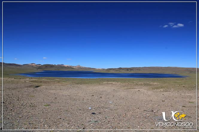 Uma das poucas lagoas pelo caminho