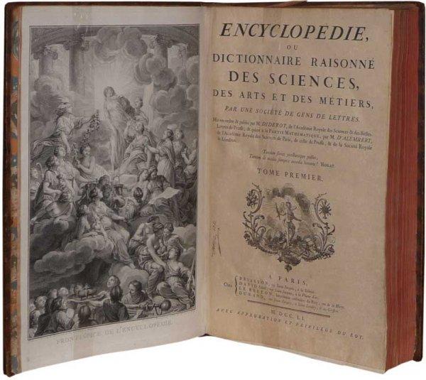 Resultado de imagen de enciclopedia de diderot