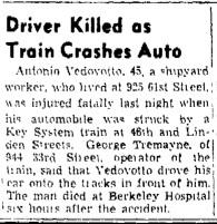 Accident Antonio Vedovotto