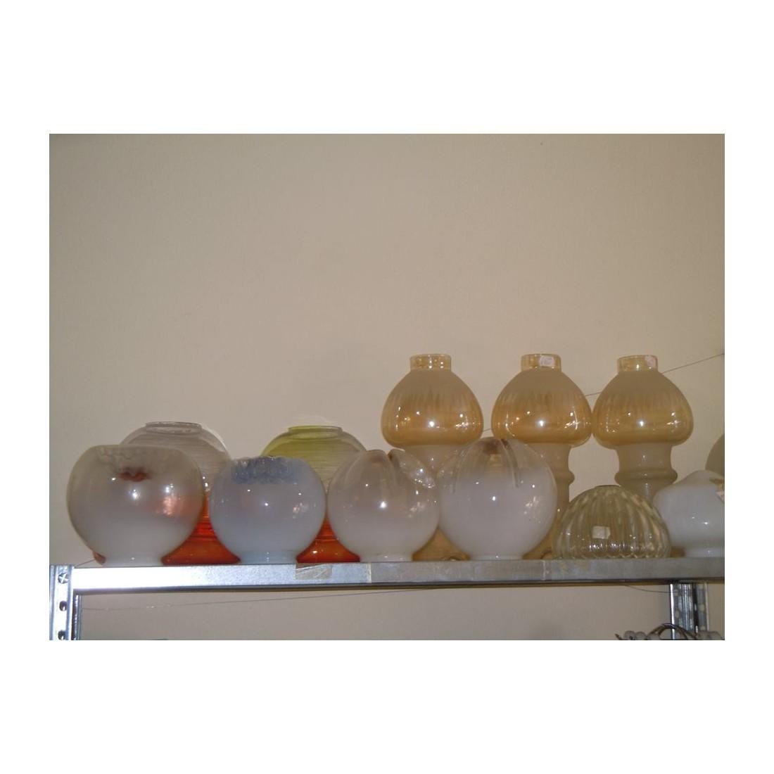 Foglia vetro ricambio bov0042 · foglia vetro ricambio per lampadario bianco latte. Ricambio Lampadari Paralumi Boccia In Vetro Grande Assortimento