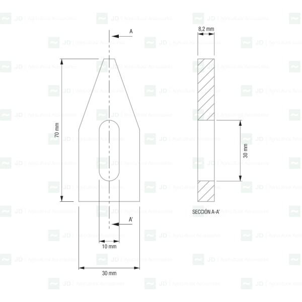 GRE-001. Rascador de poleas adaptable a máquinas de vendimiar Gregoire (264005)