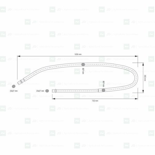 PELL-423. Bastón / Sacudidor adaptable a vendimiadoras Pellenc Serie 8000 (4745423 / 883971772)