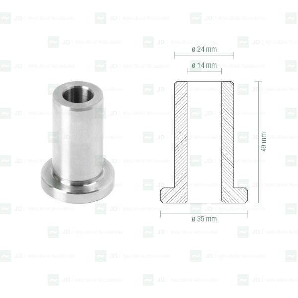 Casquillo metálico para silentblock adaptable a Gregoire GRE-SK01 (025015)