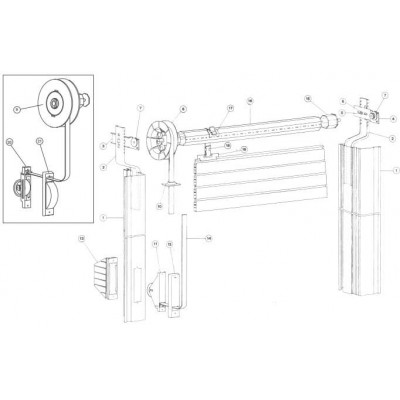 Emmeplast, inoltre, dispone di diversi sistemi di manovra ad argano a fune o con cintino. Kit Manovra Tapparelle Accessori Per Avvolgibili
