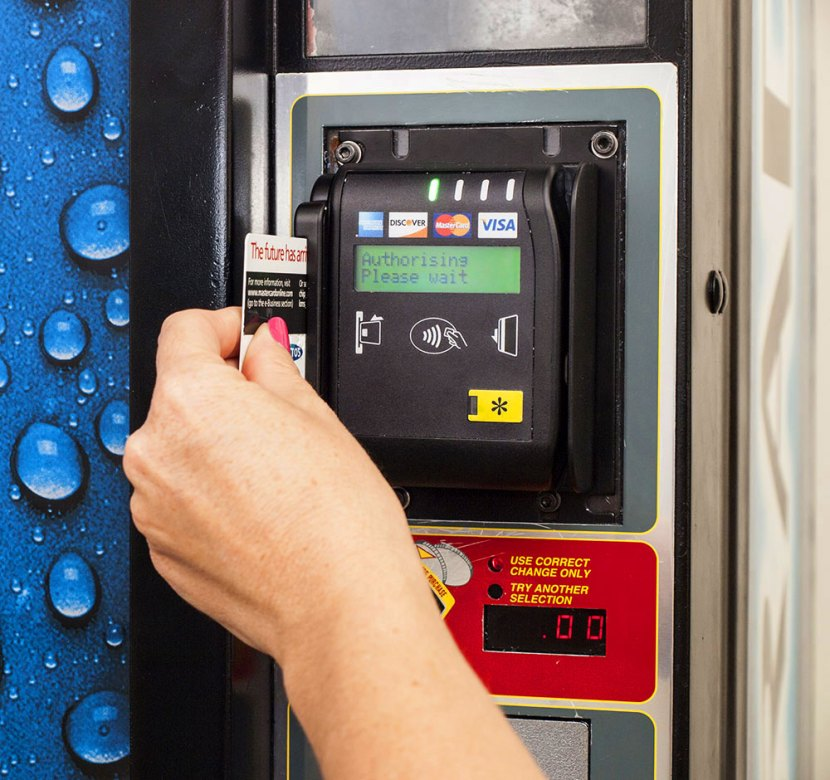 using credit card on vending machine