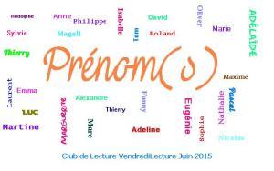 Club de lecture Juin 2015