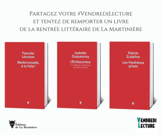 Visuel du partenariat rentrée littéraire La Martnière