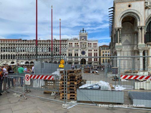 Venedig: Arbeiten zum Schutz der Markus Basilika vor Hochwasser