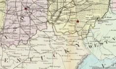 Bluegrass Map 1867