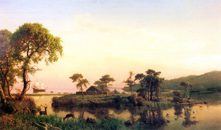 Painting by Bierstadt