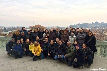 Foto di gruppo del Consiglio sulla terrazza della Basilica Palladiana
