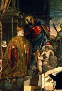 "Jacopo Robusti Tintoretto ""Doge Andrea Gritti before the Virgin"""