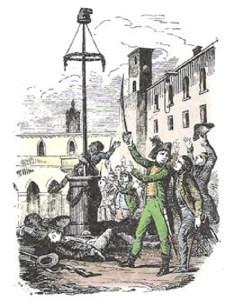 L'Albero della Libertà innalzato poco prima  a Bergamo.