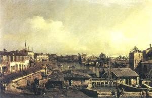 1 - Bernardo Bellotto, I molini sul Brenta a Dolo. Henley-on-Thames, collezione del visconte di Hembleden
