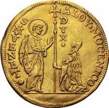 il Doge in ginocchio davanti a San Marco, anche nelle monete antiche
