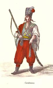 guardia del corpodella fam Morosini, un 'carabibiero' , una craina che scortava le cariche pubbliche