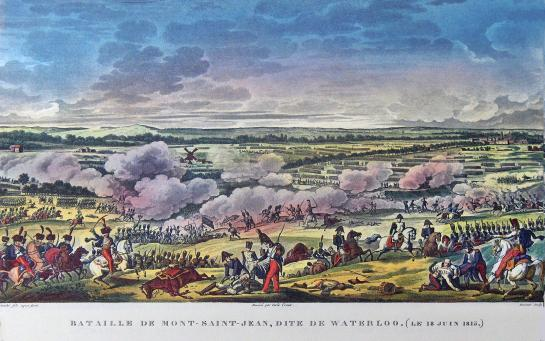 Slag bij Mont-Saint-Jean of Salg bij Waterloo18 juni 1815