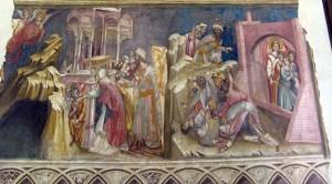 AFFRESCO nella reggia dei Carraresi, a Padova