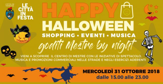 """Happy Friday Mestre"" ad Halloween il 31 ottobre"