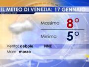 Meteo Venezia: previsioni giovedì 16 gennaio 2019