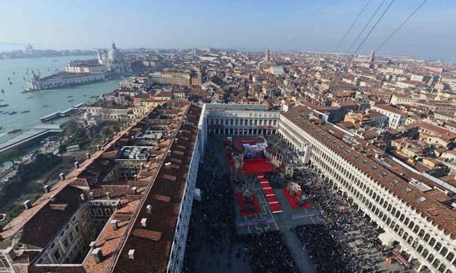 Volo dell'Aquila del Carnevale di Venezia 2019: sicurezza