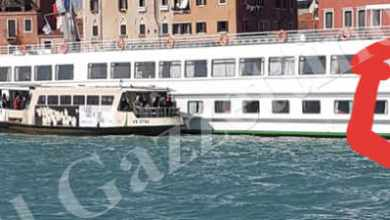 Vaporetto Actv in avaria contro nave Michelangelo