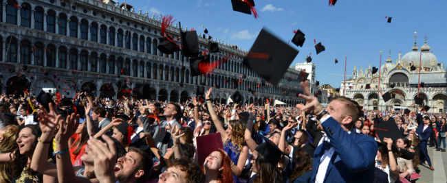 Università Ca' Foscari: 862 neodottori in Piazza San Marco
